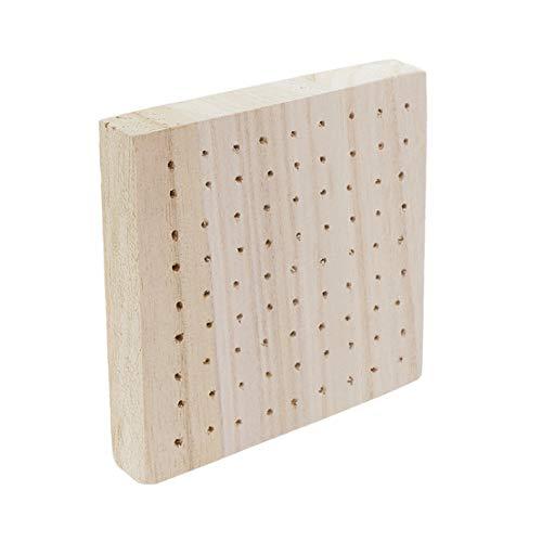 Kissherely Holzeinsatzplatte Quadratisch geformte Locheinlage Tonfigur Trocknungsgestell Tonbasis Plug-in-Platte Skulptur Ton Keramik,Quadrat