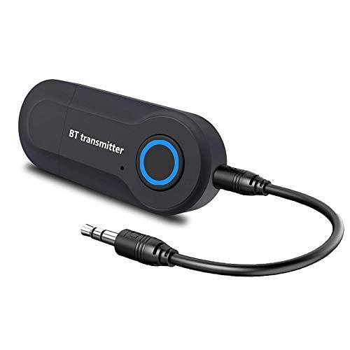 Bluetooth Sender,Bluetooth 5.0 Sender Drahtloser tragbarer Audio Adapter für 3,5-mm Geräte Audio Adapter für TV, PC,Heim Stereoanlage