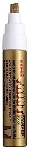 Colour Broad Permanentmarker Uni (4-8.5mm) PX-30 Gold Öl Paint Marker Metall Glas Wood Plastic Spitze Strichbreite Keilspitze mm Metall für den Außenbereich aus Stein (1 Stück)
