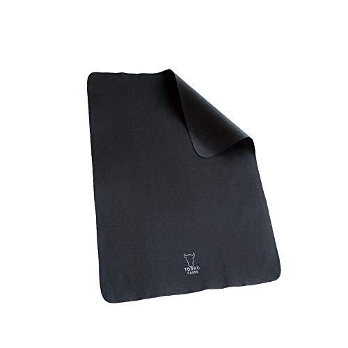 """TORRO Mikrofaser Reinigungstuch Kompatibel Mit Apple iPad Pro 11"""" [17.9 x 24.8cm] [Chemikalienfrei] [Sehr Saugfähig] [Antistatisch] [Ultraweich] (Schwarz)"""