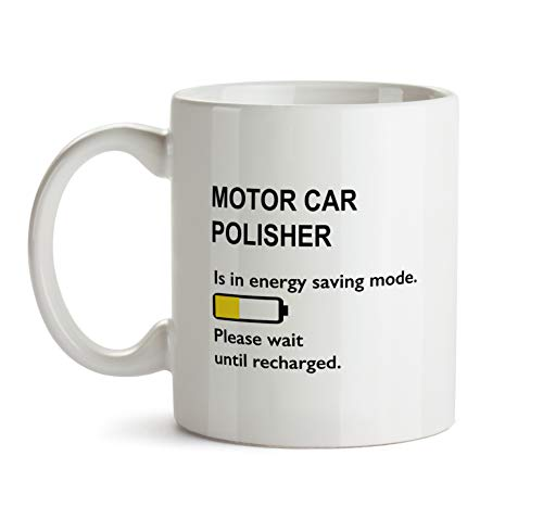 Best Ever Motor Car Polisher Gift Mug - BB102 Funny Thank You Appreciation Coworker Coffee Cup - White Novelty Work Office Present For Men Women