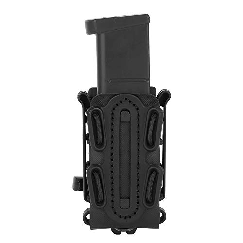 KRYDEX 9mm Mag Pouch Softshell Pistol Pouch Tactical Magazine Carrier Short (Black)