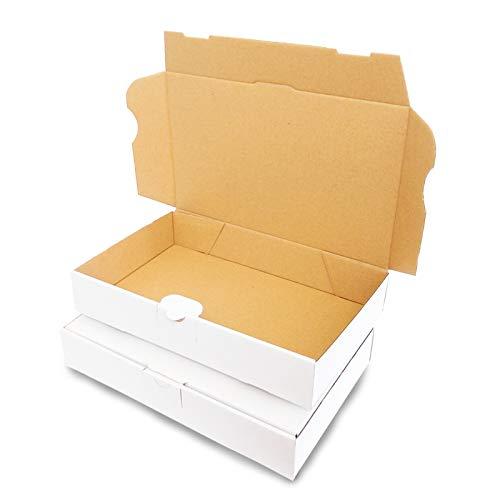 100Maxibrief carton 240x 160x 45mm Blanc Expédition Post Carton pliable de Mo de 3