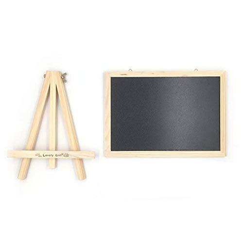 Pizarra Negra, Enmarcado con Madera SóLida, Ideal para Uso Educativo, HosteleríA y TablóN de Anuncios. Apto para Uso con Tiza Y Rotulador De Pizarra.