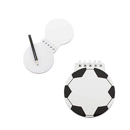 Lote 20 libretas Infantiles Balón de Fútbol. Original libreta con la Forma de un balón de Fútbol. Detalles Infantiles para Eventos, cumpleaños