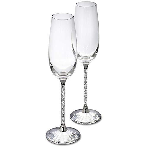YGLONG Copas De Vino 230ml Champagne Flautas de Vino de Vidrio cristalino de Boda de Lujo del Partido Que tuesta Cristal Vidrios del cubilete Copas De Vino Tinto (Capacity : 250ml, Color : 1 pcs)