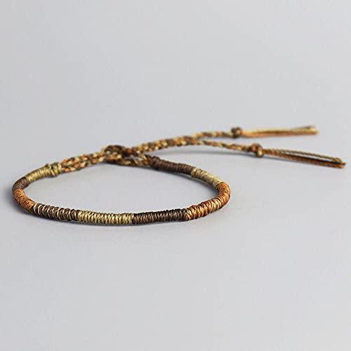 Handmade Waterproof Woven Wax Thread Wrap Bracelet Simple Rope Knot Bracelet Friendship Bracelet For Men Women-D