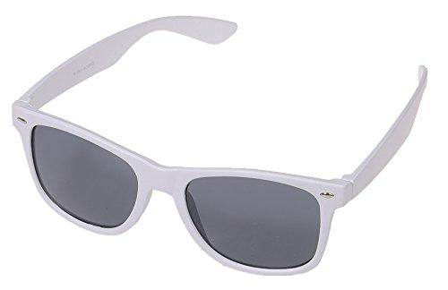 Miobo Kinder Party Brille 1980 Style Retro Atzen Nerdbrille Hornbrille Sonnenbrille und Klarglas Party Brille 1980 Style Retro Atzen Wayfarer Nerdbrille Hornbrille Weiss Sonnenbrille