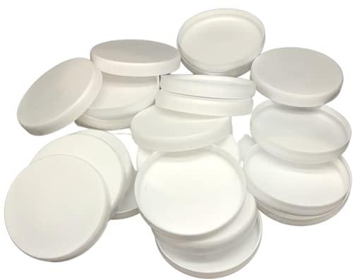 Couvercles pour pots de yaourt lot de 24 réutilisable – couvercles pour pot de yaourt diamètre 56mm – compatible avec pot de yaourt la laitière et d'autre pot de yaourt du commerce. (Lot de 24)