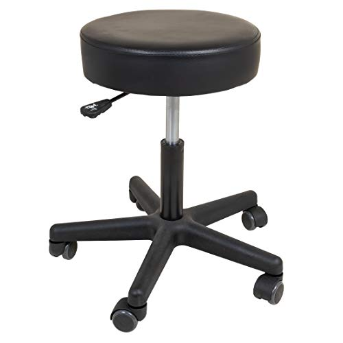 Roscoe Medical - SS7677 Rolling Stool - Stool With Wheels - Round Adjustable Work Stool, For Work, Office, Desk, Salon, Drafting, Spa