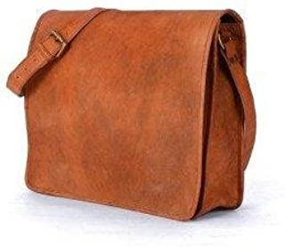 TUZECH Full Flap Hunter Leather Bag Brown Messenger Satchel Bag- Fits Laptop Upto (15 Inches)