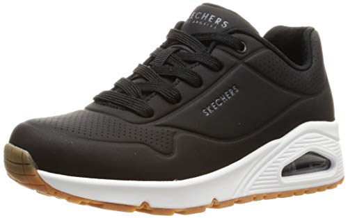 Skechers Women's Uno -Stand On Air Trainers, Black (Black Blk), 8 UK (41 EU)