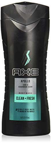 Axe Shower Gel Apollo, 16 Ounce. (Pack of 2)