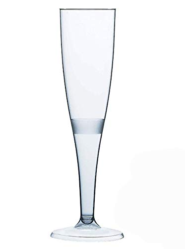 Sektgläser aus Kunststoff mit Füllstrich, Einweggläser, 160ml, 10 Stück