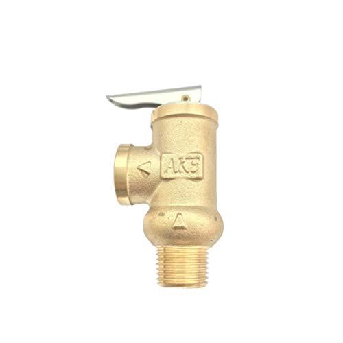 """No-Branded HKRSTSXJ Ottone valvola limitatrice della Pressione di Apertura della valvola di Sicurezza YA-15 BSP1 / 2\"""" for Acqua Fredda Pompa di Protezione del Tubo (Color : Brass, Size : 9bar)"""