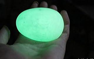 without brand LSB Pietra Colorata, 1pc 45 Millimetri -48mm Green Glow Calcite Glow in Luminoso di Cristallo Egg The Dark P...