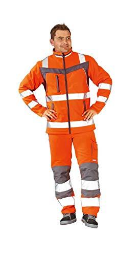 Planam 5660080 Warnschutz Softshell Jacke Plaline Größe 7XL in orange/schiefergrau