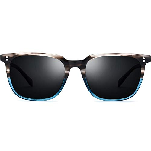 SWNN Sunglasses Gafas De Sol Redondas De Alta Graduación for Gafas De Sol Polarizadas for Hombres Protección UV400 De Alta Intensidad (Color : Blue)