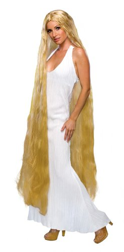 "60"" Long Lady Godiva Rapunzel Blonde Wig Fancy Dress (peluca)"
