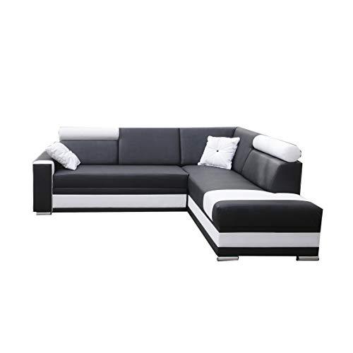 große Ecksofa Sofa Eckcouch Couch mit Schlaffunktion und Bettkasten Ottomane L-Form Schlafsofa Bettsofa Polstergarnitur - JACKSON (Ecksofa Rechts,...