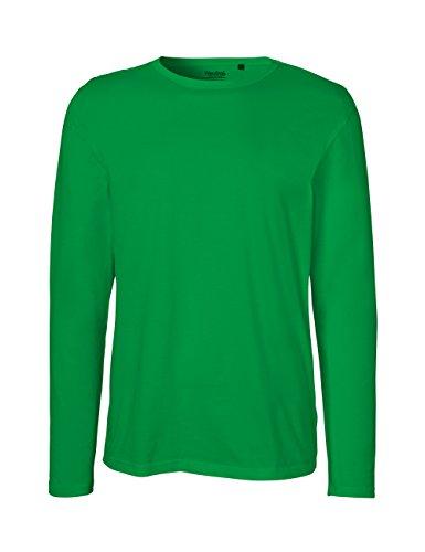 Green Cat- Herren Langarm T-Shirt, 100% Bio-Baumwolle. Fairtrade, Oeko-Tex und Ecolabel Zertifiziert, Textilfarbe: grün, Gr.: L