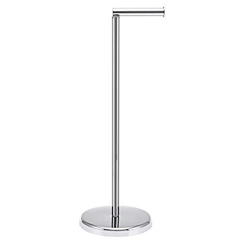 TeinJaen Toilet roll Holder Free-Standing Chromed with Heavy Floor,19 x19 x55cm,for Bathroom, Stainless Steel Chromed