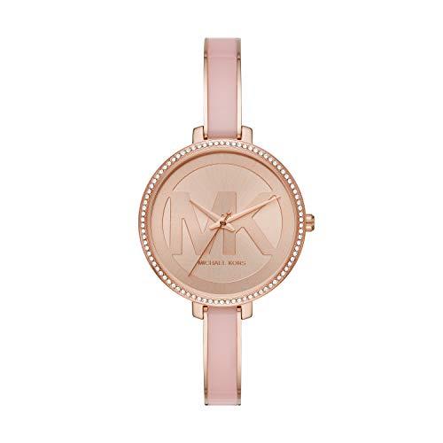 Michael Kors Women's Jaryn Quartz Watch with Stainless Steel Strap, Pink, 8 (Model: MK4545)