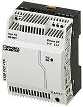 PHOENIX CONTACT STEP-PS/1AC/24DC/2,5 AC-DC CONV, 1 O/P, 60W, 2.5A, 24V