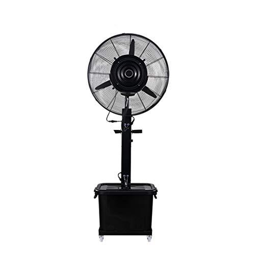 HGNA-Kühl&Heizsystem Großer Luftkühler Industrieller Boden-Ventilator-Universalrad stumm schüttelnde Hauptaluminiumlegierung + Metall 43L großer Wasser-Behälter (Farbe: Schwarzes)