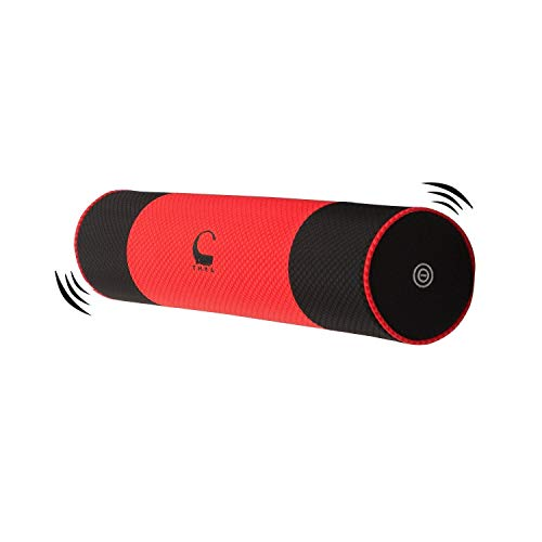 Best Prices! THEA Vibration Bolster Pillow Massage Foam Roller 24 Free Battery, Carry Bag (RED), Ca...