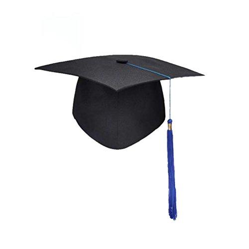 NUOBESTY Sombrero de Estudiante Graduado Ajustable Gorra de graduación Accesorio del Traje de la Fiesta de graduación para los Adultos con Borla Azul