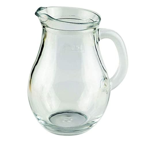FETTR Jarra de leche para el hogar, resistente al calor, jarra de leche de vidrio, jarra de leche pequeña, jarra de leche para el desayuno, taza de leche, jarra de leche (tamaño: A)