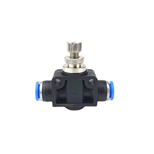 Drosselrückschlagventil mit Steckanschluss - Schnellsteckverbinder - PUSH IN (8mm)