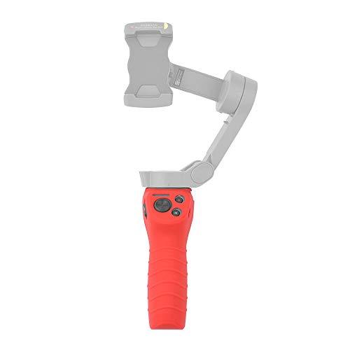 Gimbal Handle Silicone Cover Kompatibel für DJI OSMO Mobile 3 Handheld Kamera Gimbal Stabilisator, rutschfeste Gimbal Stabilizer-Schutzhülle Cover Anti-Slip Protect Case (Rot)