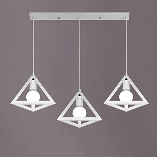 Tablelamp-SZQ Creatieve moderne lamp driehoek gepolijste lampenkap hanglamp antioxidanten metaal licht oorbellen slaapkamer keuken plafondlampen 3 hoofd E27 lampen