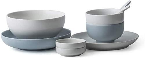 XUEXIU New Wave Soup Plate Plats Nordiques Set Plats Simples Accueil Couverts Combinés -3 Sets De Choix Perfect for Catering and Home