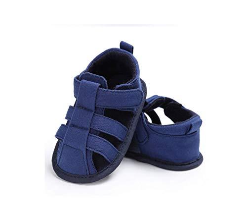 Geagodelia Sandali per bambini Simpatici neonati Ragazzi Tela Suola morbida Presepe Zoccoli Sneakers Piccolo bambino Scava fuori Sandali Scarpe (Blu, 0-6m)