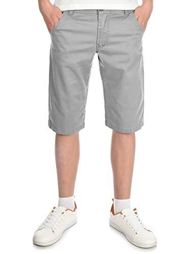 BEZLIT Kinder Kurze-Hose Jungen Chino-Shorts Capri-Shorts Bund Verstellbar Kinder-Shorts 30057 Hellgrau 164