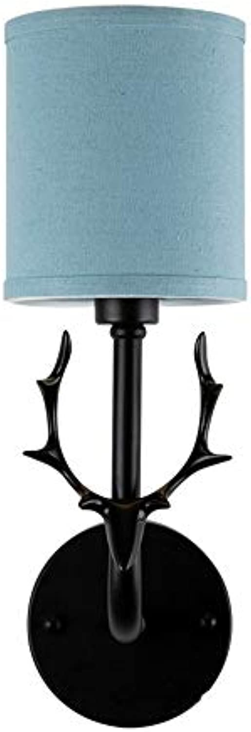 Wall lamp Ruitx Wall Sconces Deer Head Plug-in oder Hardwire Lampe, Decorstion Wohnzimmer Schlafzimmer,Blau