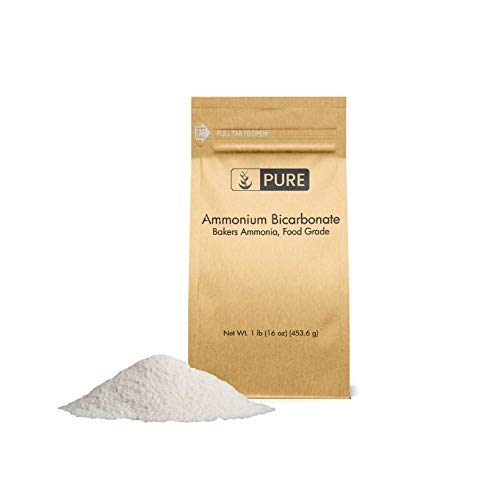 PURE Ammonium Bicarbonate (1 lb.), Traditional Leavening Agent Used in Flat Baked Goods such as Cookies or Crackers