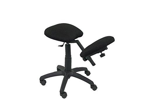 Piqueras y Crespo Modell 37G–Hocker Desktop-ergonomisch, drehbar und höhenverstellbar–gepolstert, Stoff Bali Farbe schwarz (Kniebandage ·)