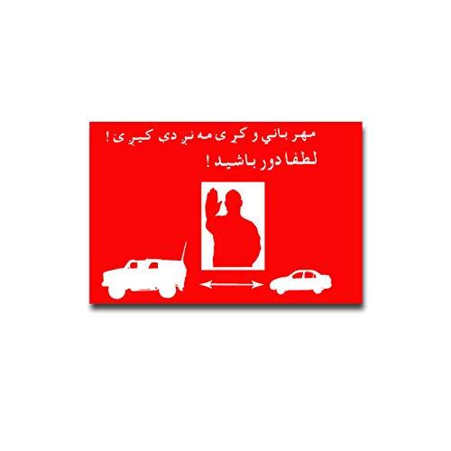 BW Abstandhalten ISAF Afghanistan Bundeswehr Aufkleber Sticker 15x10#A4356