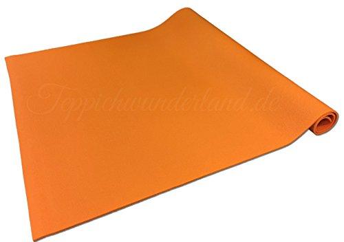 Teppichwunderland Anti-Rutsch Krabbelmatte Baby Schadstofffrei Oeko-Tex Matten, Größe 170 x 120 cm Orange