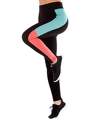 LaLaAreal Mallas Deportivo Mujer Leggins Yoga Pantalon Elastico Cintura Altura para Running Pilates Fitness