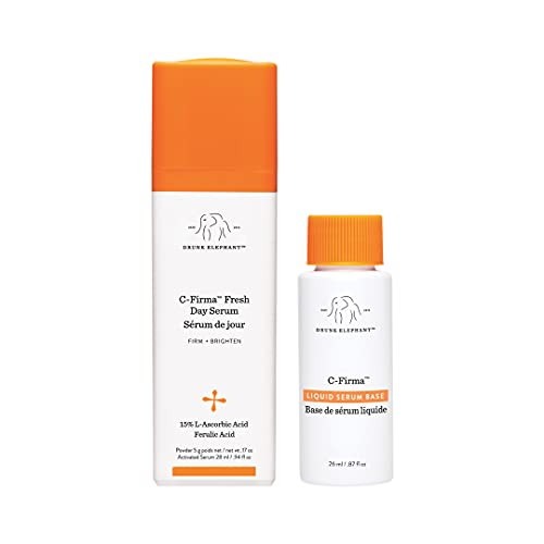 Drunk Elephant C-Firma Fresh Day Serum – Firming and Brightening Serum for Damaged and Aging Skin