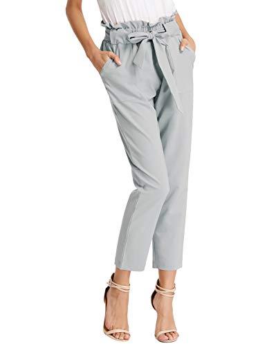 GRACE KARIN Women High Waist Pencil Pants Slim Fit Casual Trousers Light Gray M