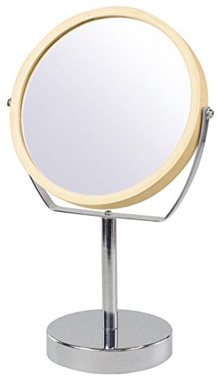 その結果ジェームズダイソンすりウッドフレーム 2WAY 5倍拡大鏡付 両面 卓上ミラー (ハイスタンドタイプ) ナチュラル YWM-2