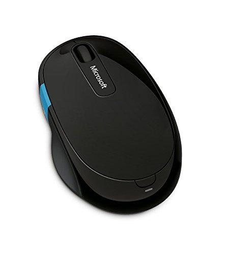 Microsoft Sculpt Comfort Mouse (Maus, schwarz, ergonomisch, kabellos über Bluetooth)