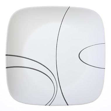 Corelle Square Simple Lines 10-1/2-Inch Plate Set (6-Piece)