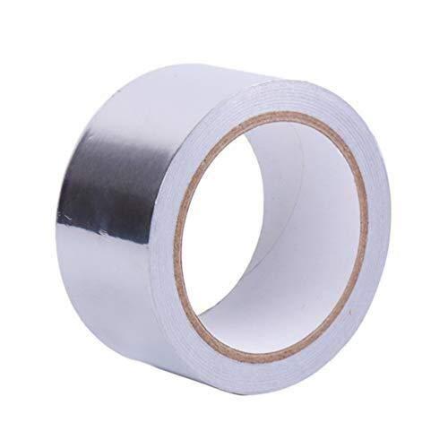 Aluminium folie zelfklevende tape afdichttape thermische weerstand kanaal tape voor metalen reparatie benodigdheden 0.05mm - voor reparatie, kanalen, isolatie, drogers en meer